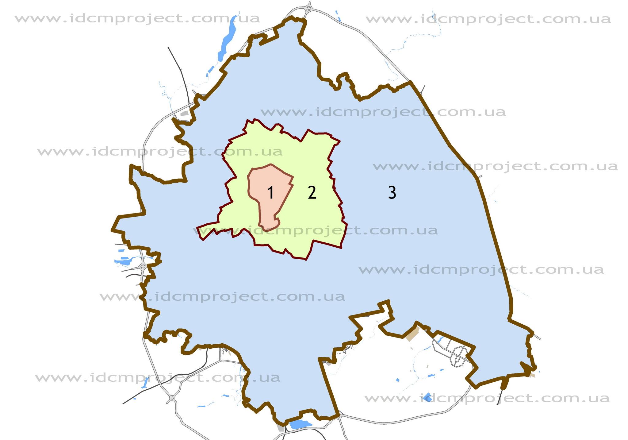 Город Харьков делится по удаленности на три района – центральный район, приближенный к центру район и удаленный район.
