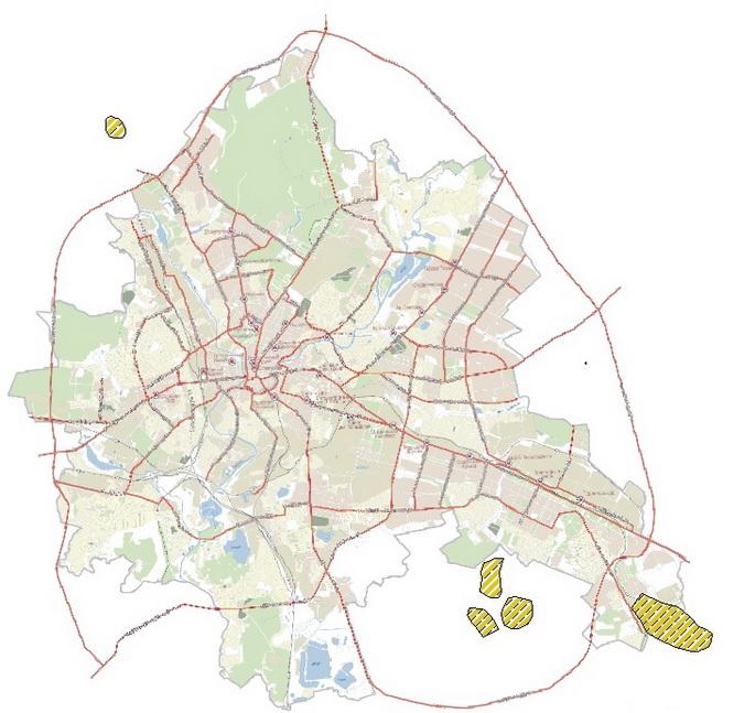 Районы развития промышленной недвижимости